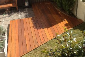 New courtyard deck