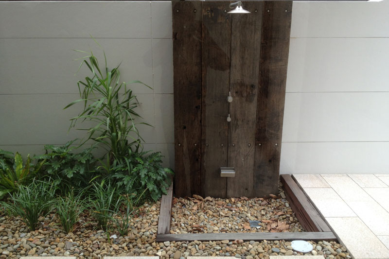 outdoor shower installation northern beaches
